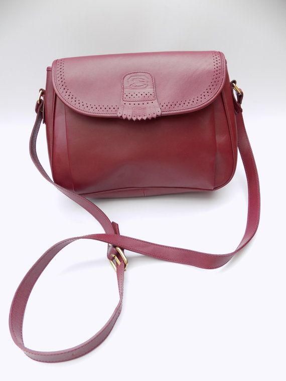 BURBERRY   Burberrys Burgundy Leather Shoulder  Crossbody bag ... 46f9fec3e844a