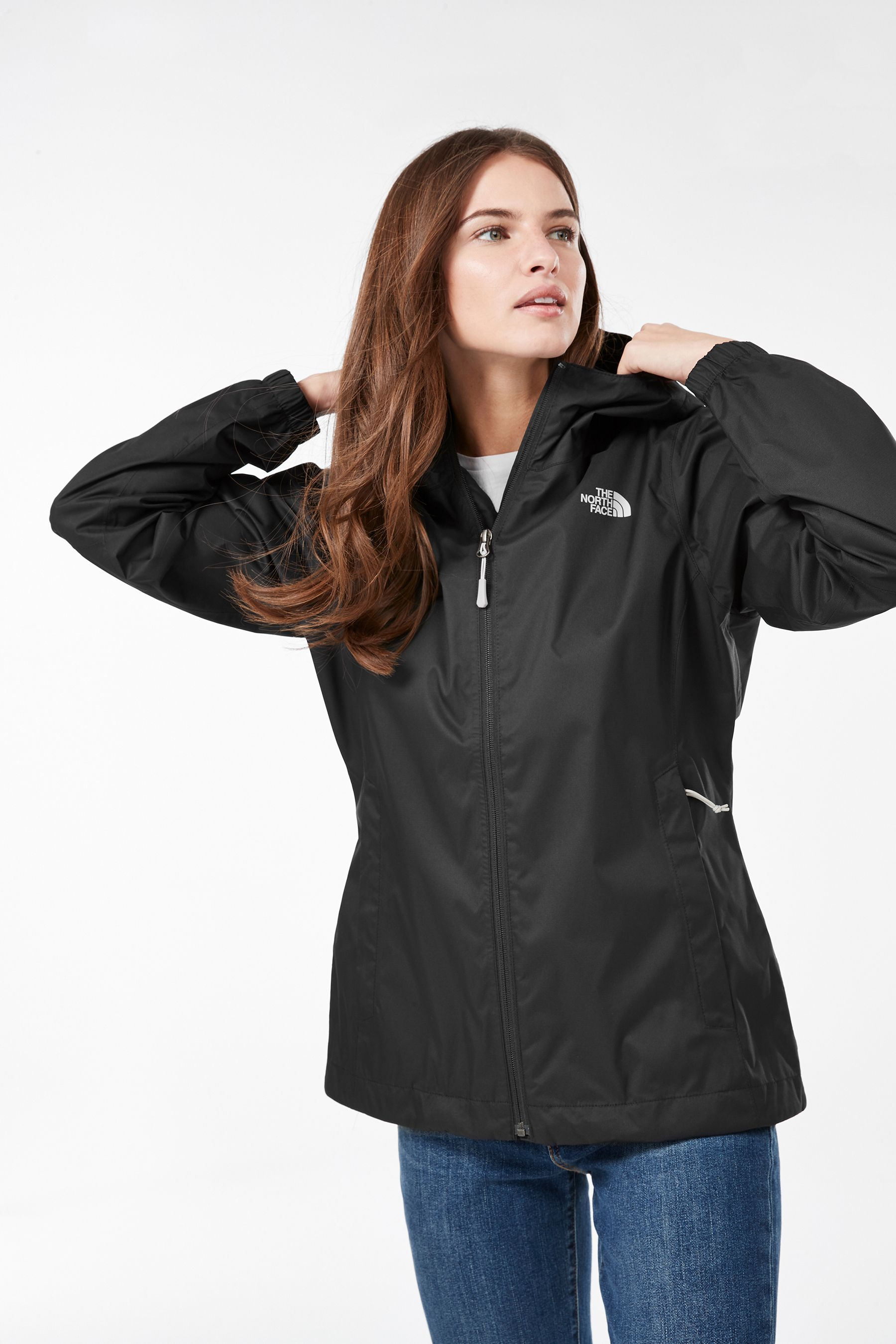 Womens The North Face Quest Jacket Black In 2020 North Face Resolve Jacket The North Face Jackets