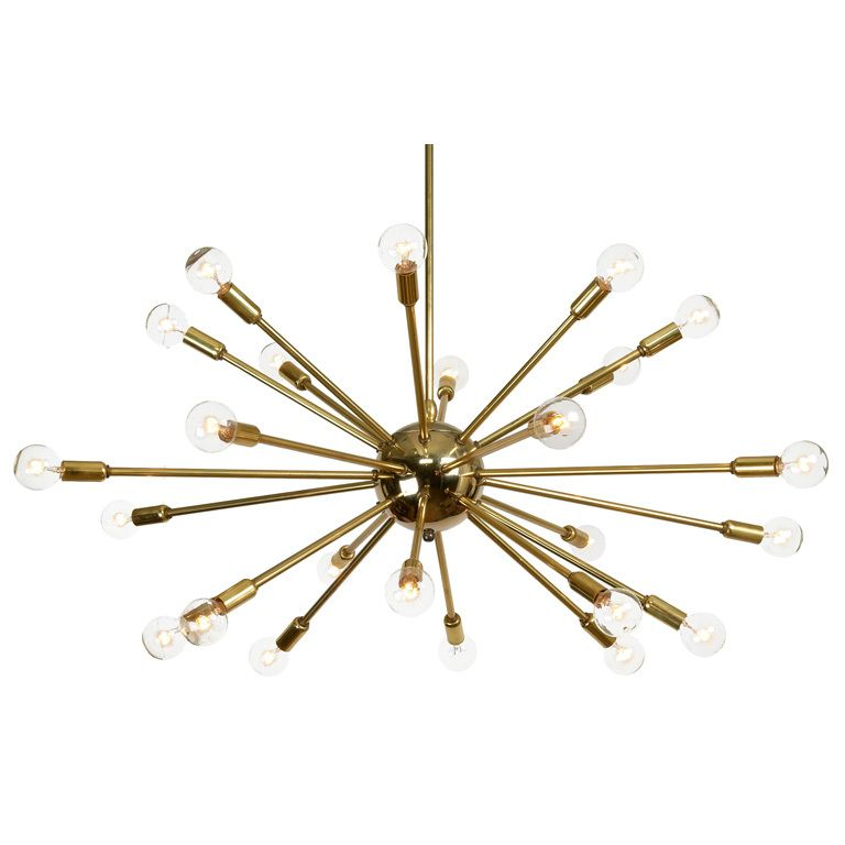 Brass Sputnik Chandelier: 24 Arm Polished Brass Sputnik Chandelier | Modern chandelier, Antiques and Sputnik  chandelier,Lighting