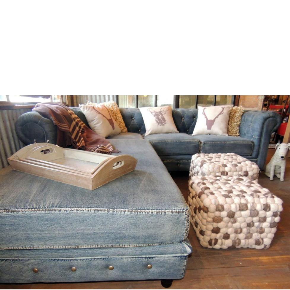 Couch of my dreeeeeeeeeammmmmmsssssss denim couch - Chesterfield sofa living room ideas ...