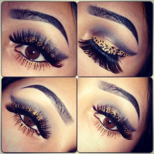 Cheetah Inspired Eye Makeup Makeupview
