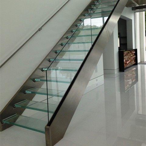 Best Double Stainless Steel Stringer Laminated Glass Open Riser 640 x 480