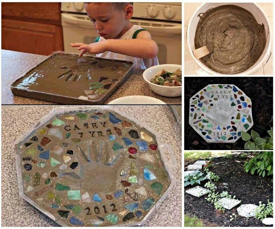 Selbstgemachte Trittsteine für den Garten Garten Pinterest