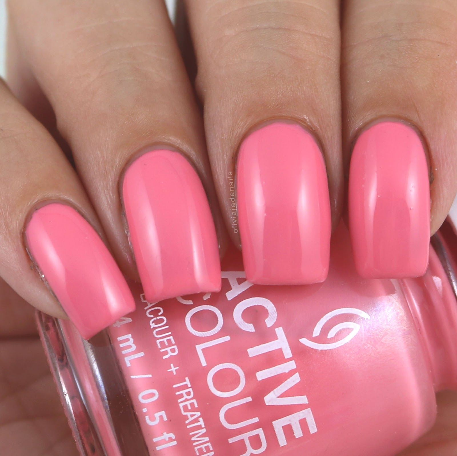 China Glaze For Coral Support swatched by Olivia Jade Nails | Gel ...