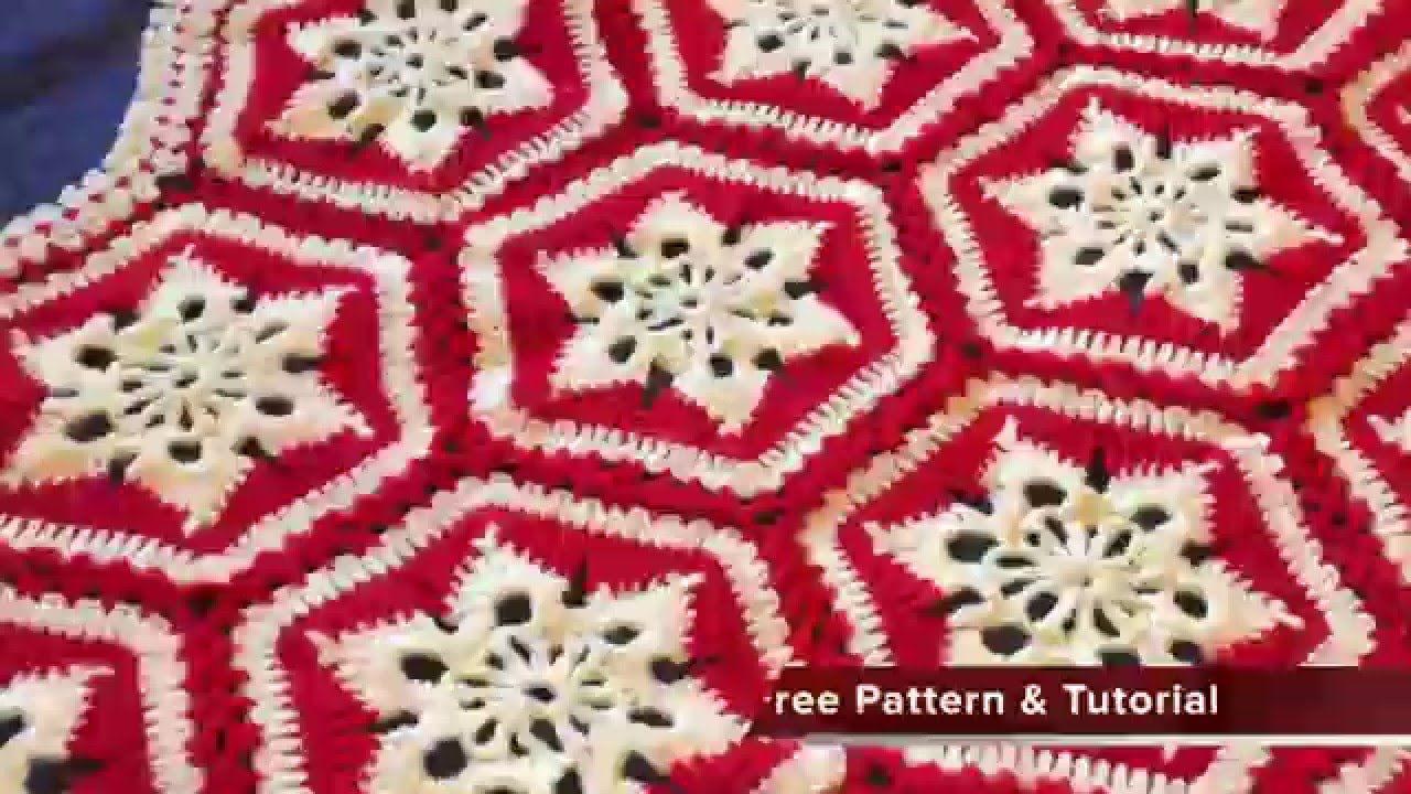 Mikey S Crochet Scandinavian Snowflake Afghan Preview