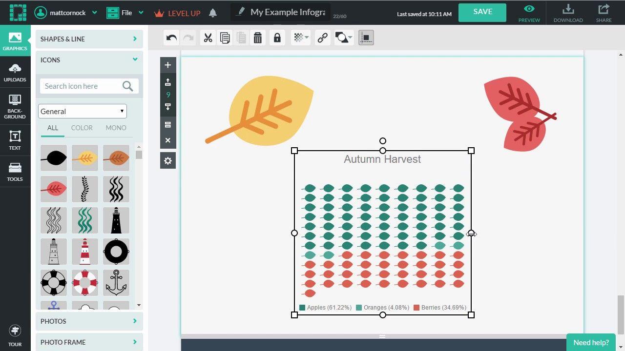 Building An Icon Matrix Chart Via Piktochart