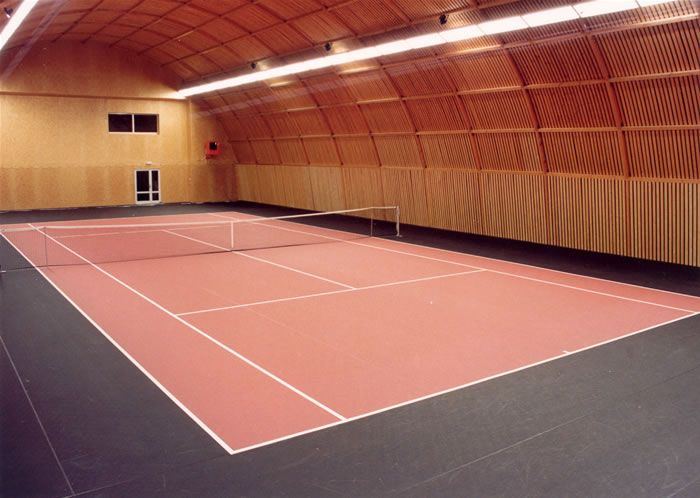Gorgeous indoor tennis court with natural lighting | Dream Tennis ...