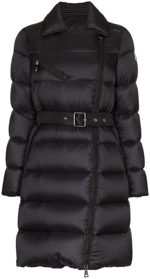 967fbceccfd0 Moncler Gelinotte Belted Feather Down and Virgin Wool Coat ...