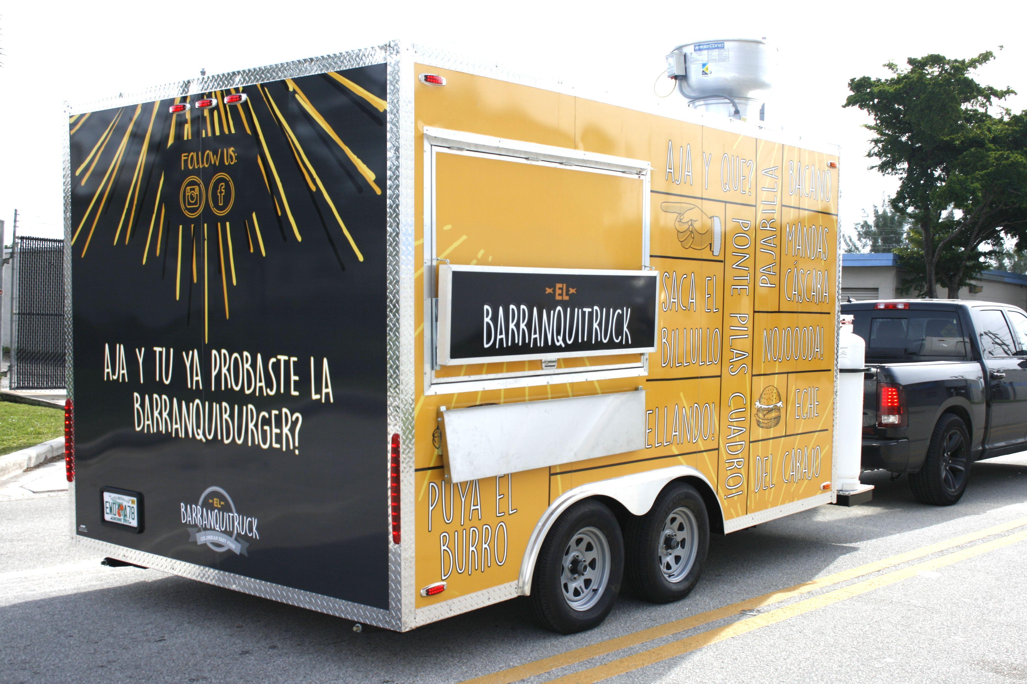 Concession Trailer Food Truck Wrap for Local Miami Small