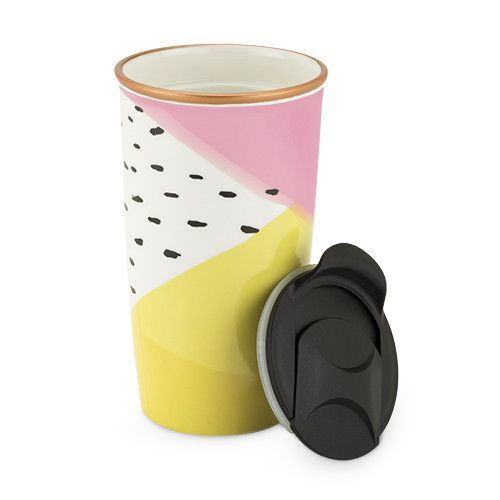 Color Block Ceramic Travel Mug Products