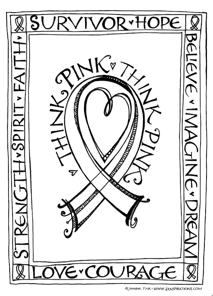 Zenspirations BLOG Think Pink Free Downloadable Coloring u Card