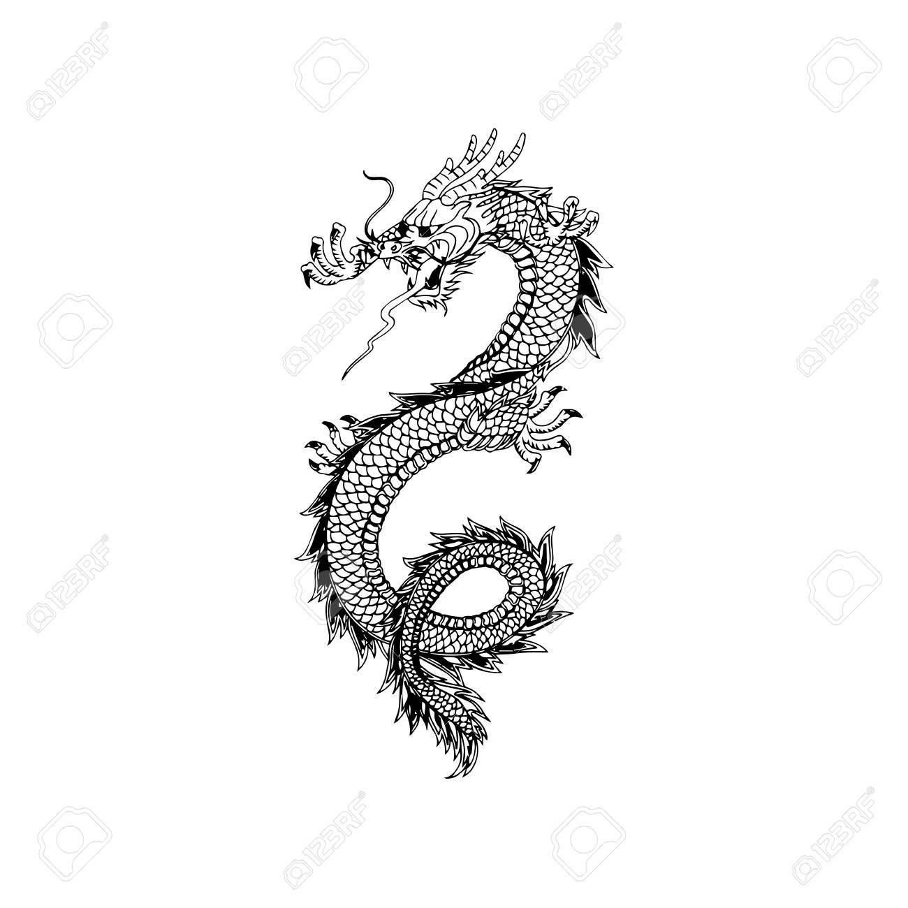 Photo of Chinese dragon tattoo design