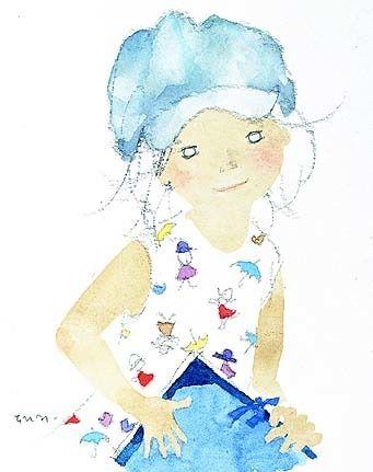 いわさきちひろ Chihiro Iwasaki いわさきちひろ 水彩 子供イラスト