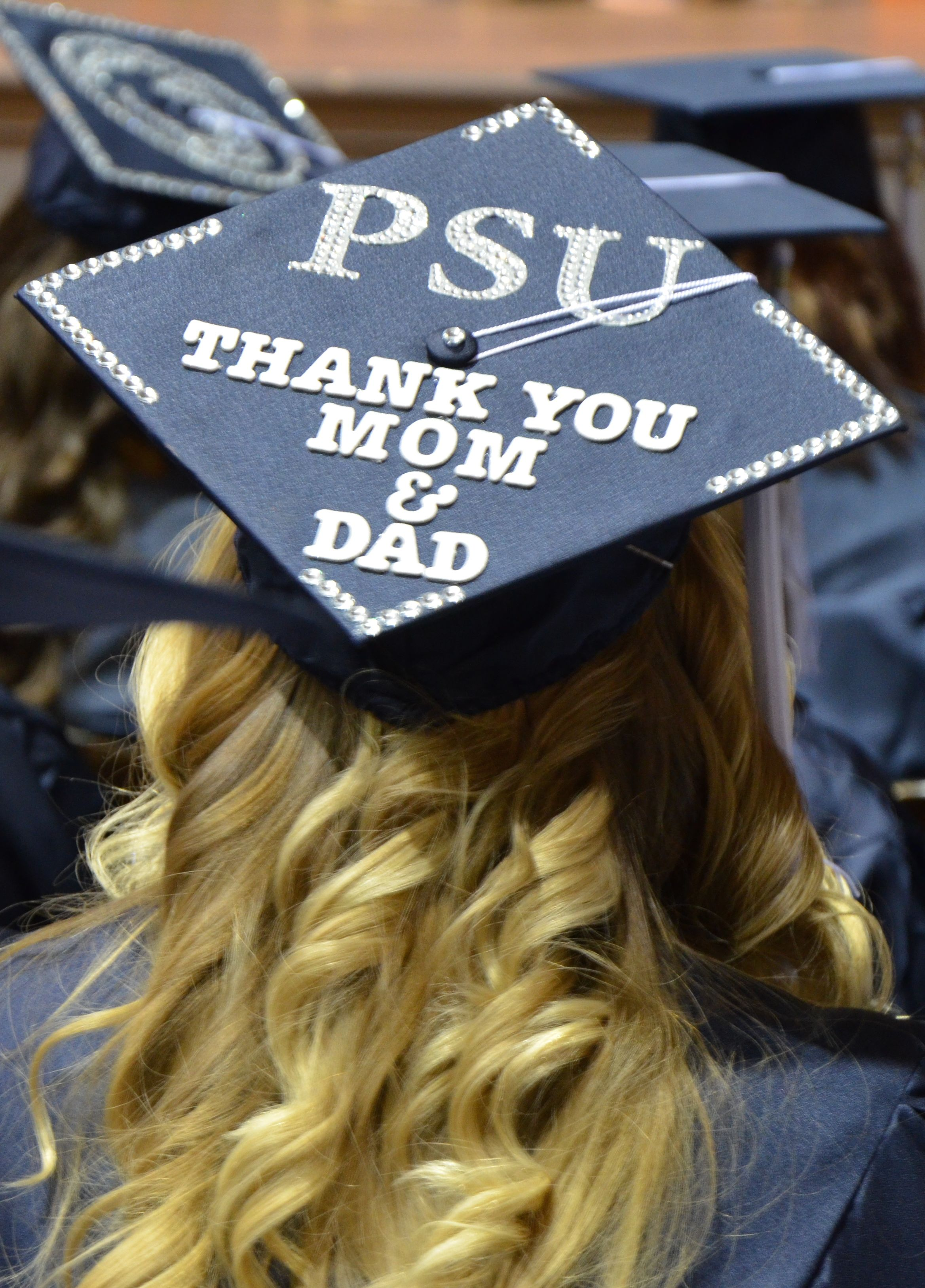 Awwwwww, this mortar board decoration went out from a Penn State ...