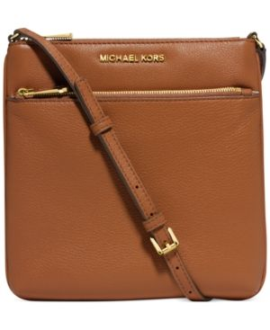 Michael Michael Kors Riley Small Flat Crossbody - Brown  dfd2cd2fd4c49