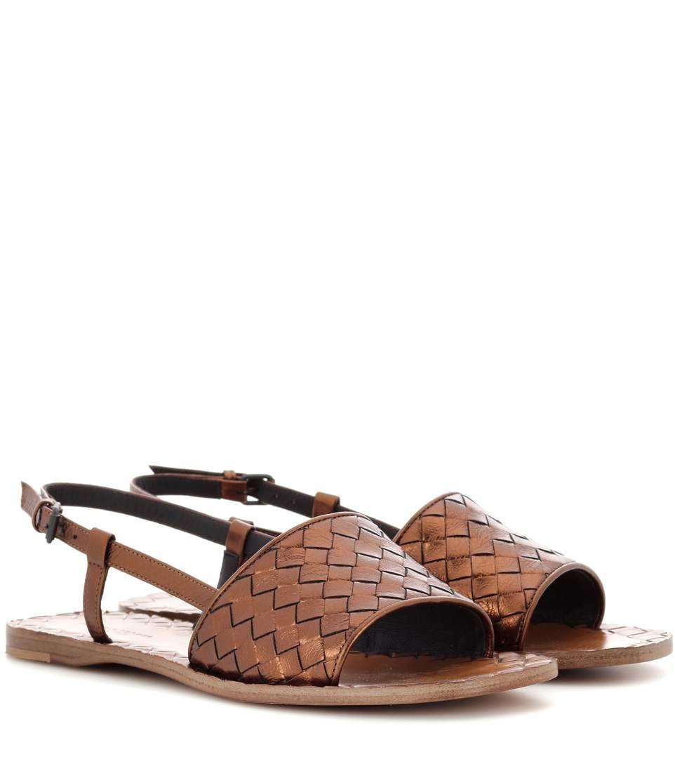 Intrecciato Leather Sandals Bottega Veneta XhFDa3Bd