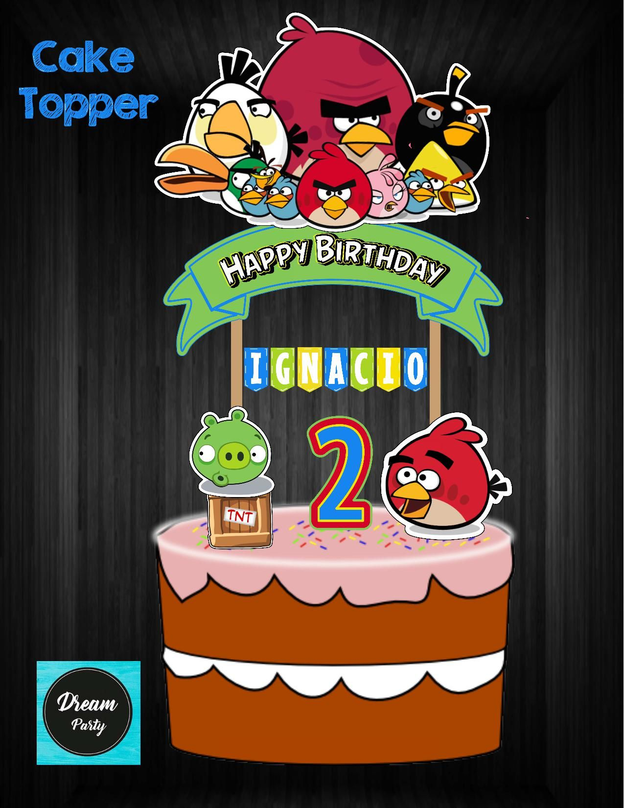 Angry Birds Cake Topper Angry Birds Birthday Angry Birds Party