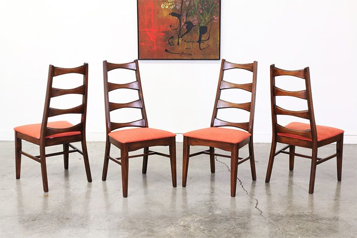 Mid Century Modern Bow Tie High Back Dining Chairs Dining Chairs