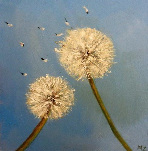 """Dandylion Wish, 2"" - Original Fine Art for Sale - © Michele Zuzalek"