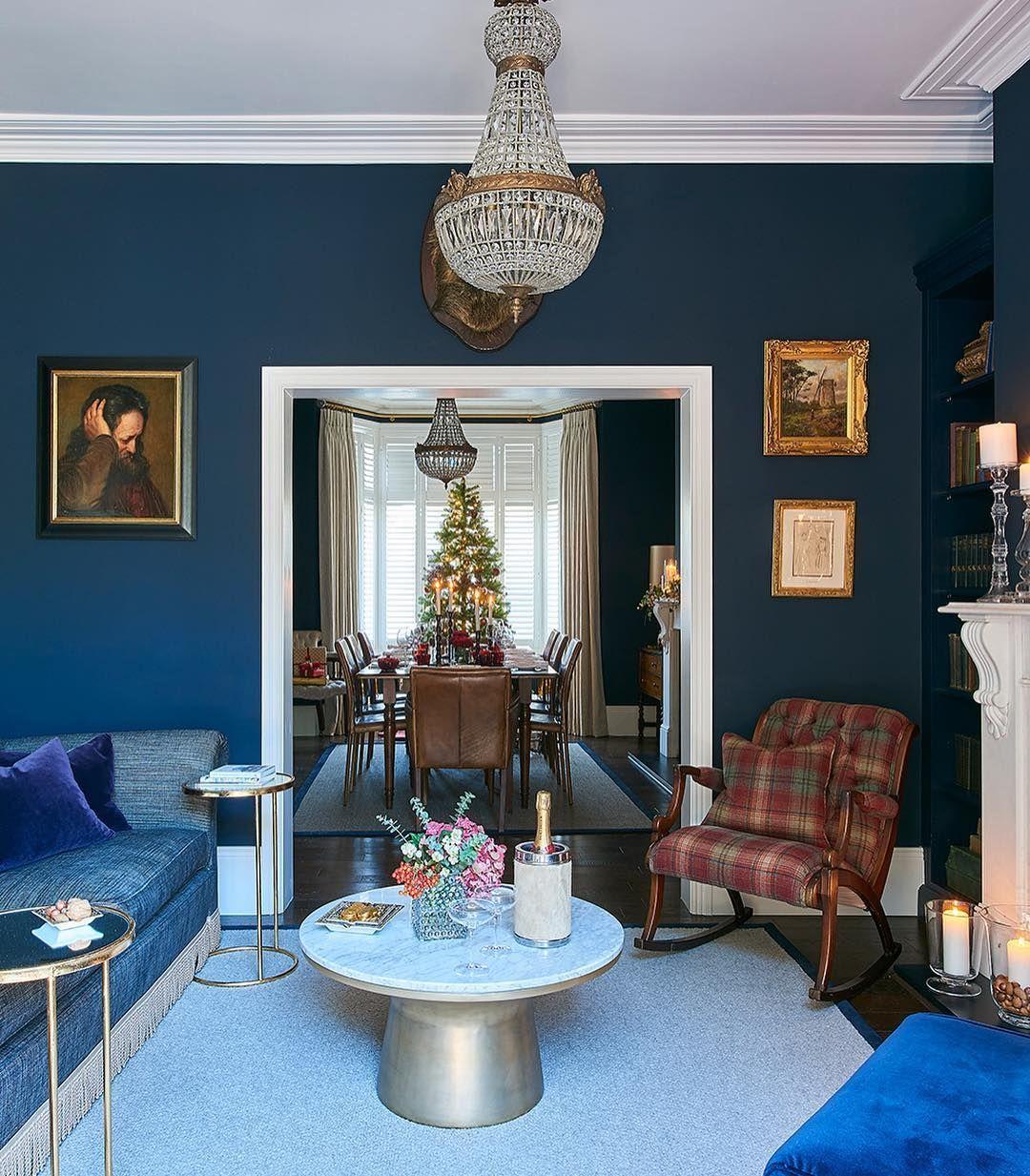 deep blue! designemma collins interiors, photograph
