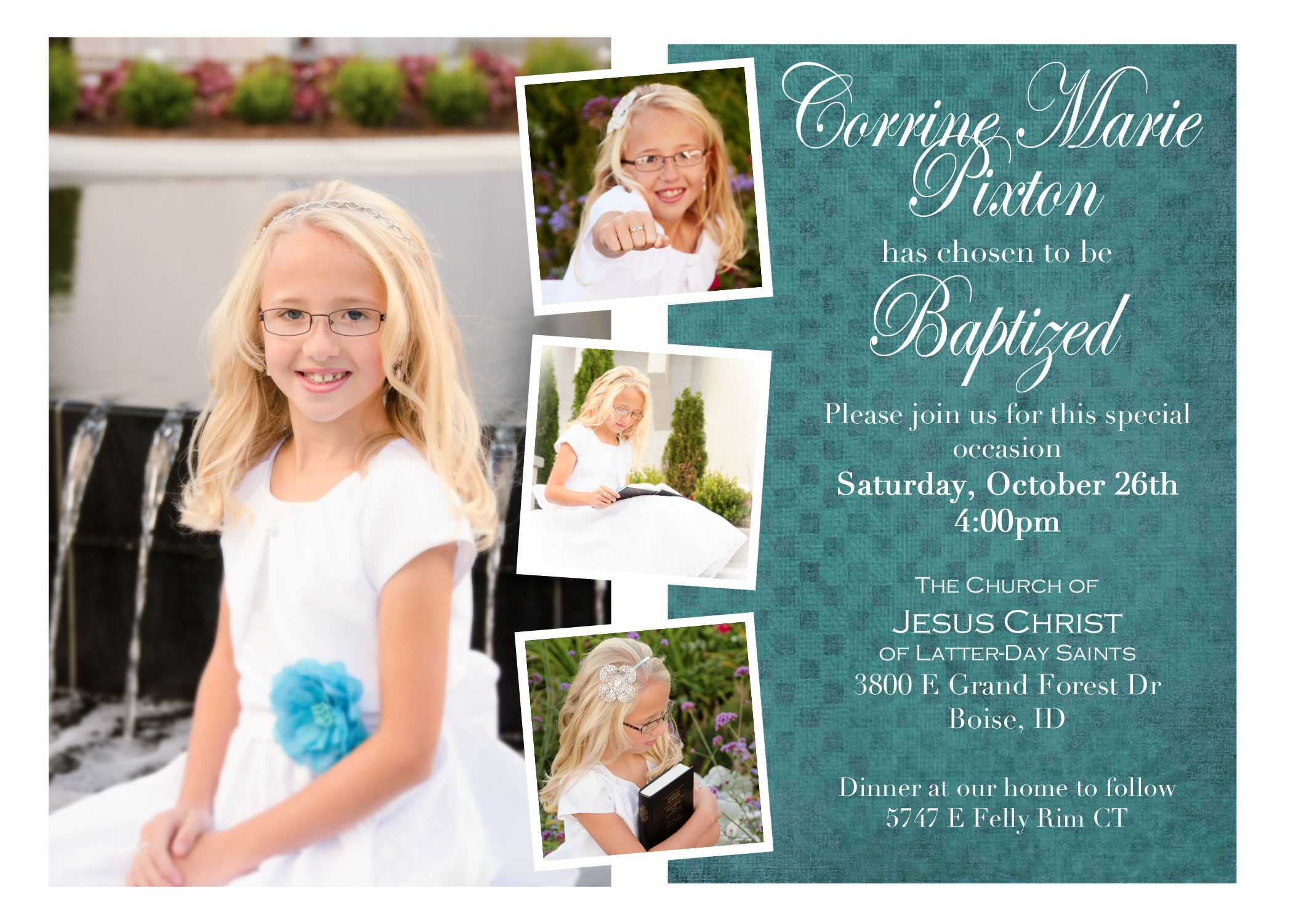 Lds Baptism Invitation Photoshop Find More Lds Greats At
