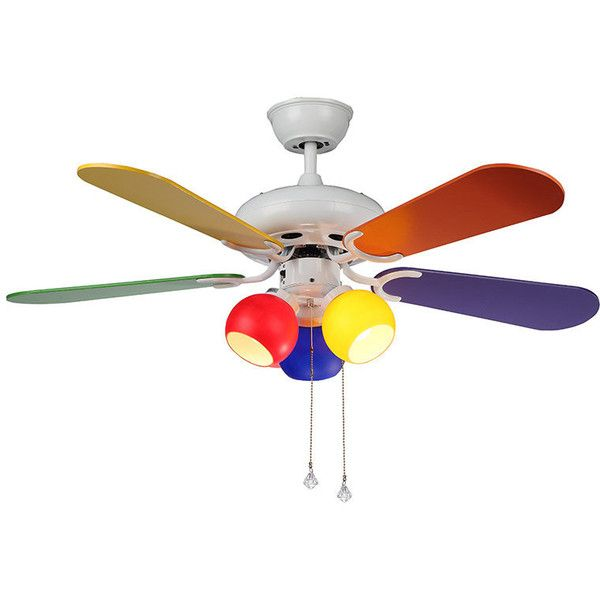 Modern Multi Color Ceiling Fan 168 Liked On Polyvore Featuring Home