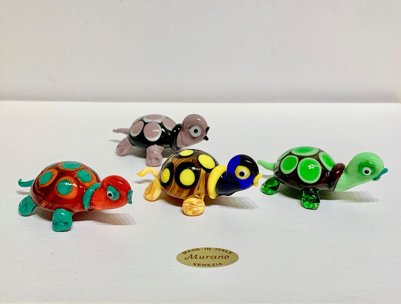 Mini Handicraft Miniature Marine Ceramic Turtle Figurine Terrarium Animal Decor