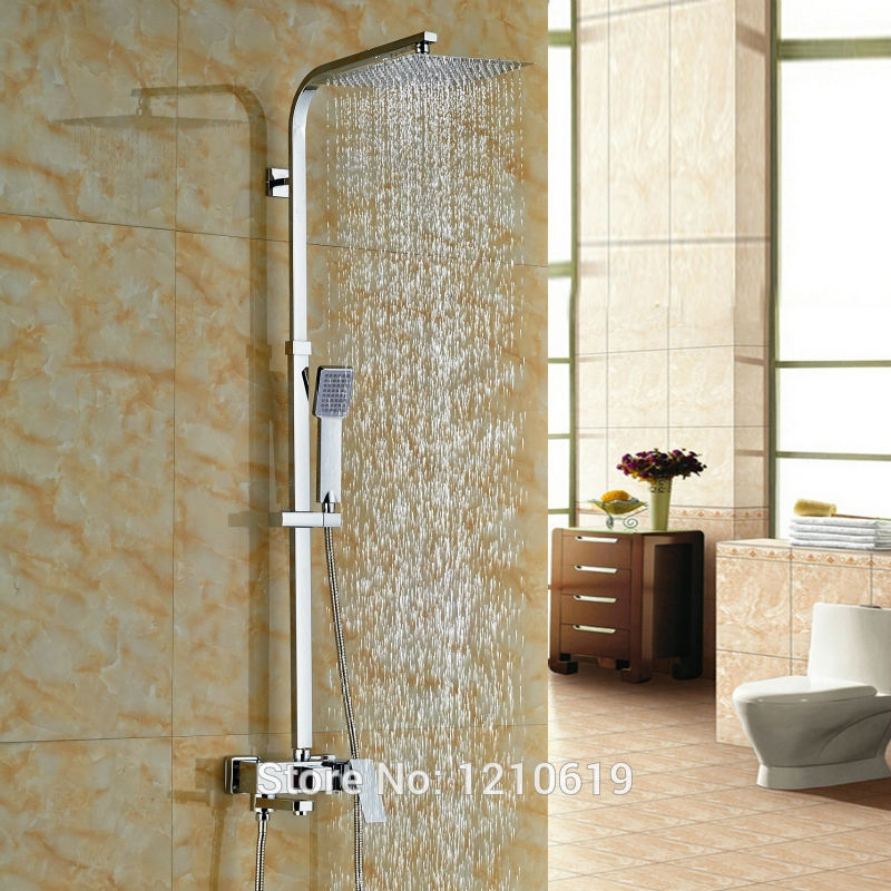 11440 Buy Here Newly 10 Inch Rain Shower Faucet Set Wall Mount