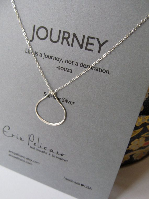 Graduation Gift . Sterling Silver . Journey . Simple Jewelry : graduation gifts for mom - medton.org