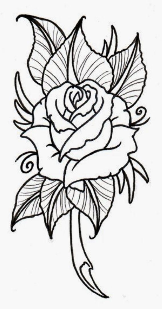 Rose Flower Drawing Roses Drawing Flower Outline Rose Outline