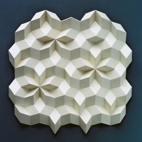 more pentagons by Gerard Caris: Rhombohedra Sculptures - Division of light and shadow, of relief and space