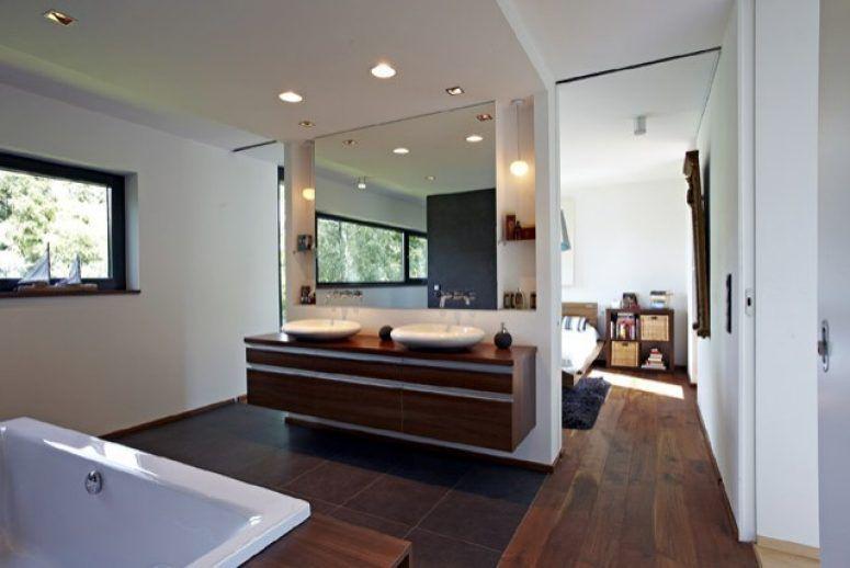 Anbau An Einfamilienhaus Bad En Suite Mit Doppelwaschbecken