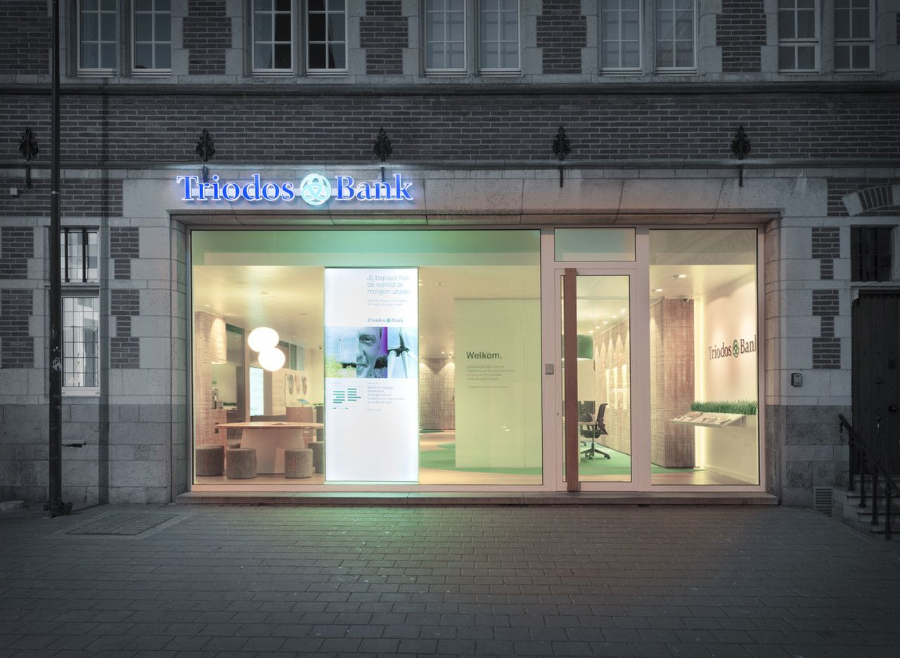 Triodos Bank S First Physical Branch Work Pinkeye Designstudio Pinkeyedesign Bank Design Branch Design Showcase Design