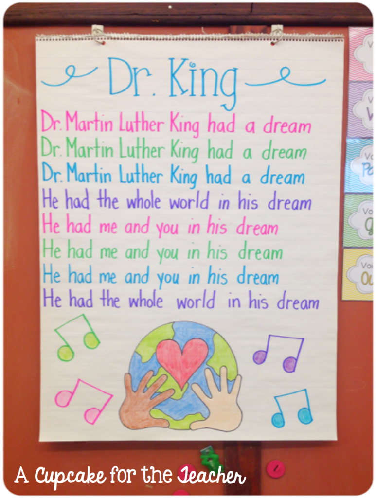 A Cupcake For The Teacher January Jumble Martin Luther King Activities Mlk Jr Day Martin Luther