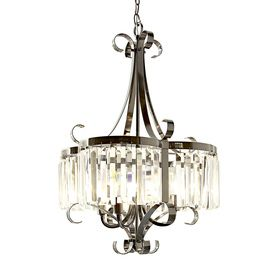 Style Selections 4 Light Black Chrome Chandelier Lowes $179 Nice  Transitional Style. Different