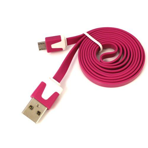 Jm Intlhot Pink 1m3ft Noodle Narrow Micro Usb Flat Data Cable For Samsung Galaxy S3 I9300 Note 2 Acer Allegroblackberr Data Cable Samsung Galaxy S3 Sony Xperia