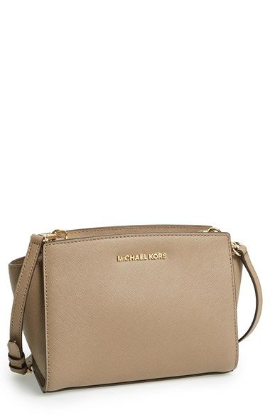 7937692747220d MICHAEL Michael Kors 'Medium Selma' Saffiano Leather Crossbody Bag  available at #Nordstrom Color: Either