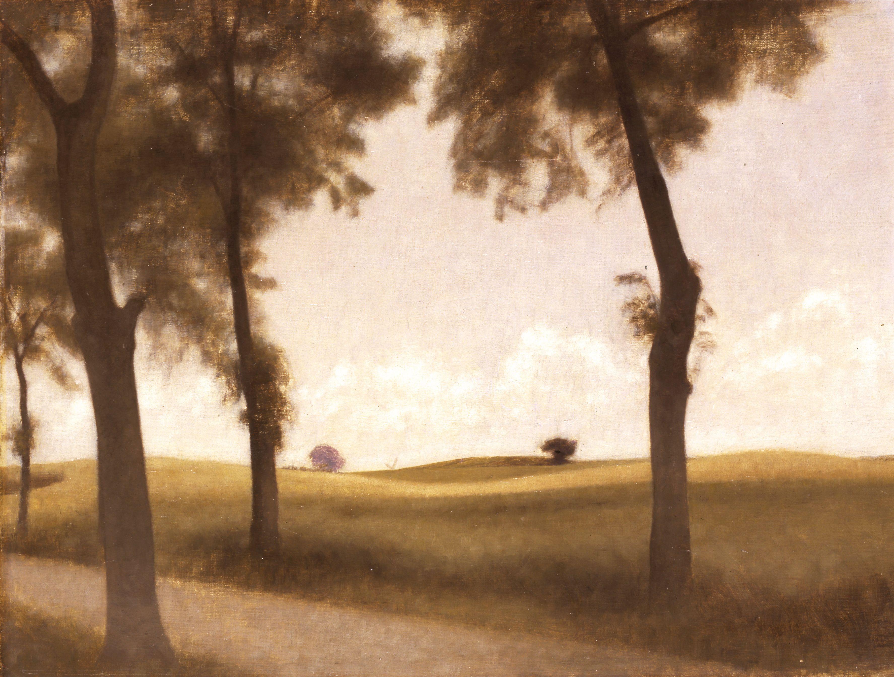 "Danish-born Vilhelm Hammershøi (1864-1916) ""Rønne-alleen ved Snekkersten"" (""The Rowan Avenue at Snekkersten""), 1906. © Courtesy The David Collection, Copenhagen, Denmark. #Dansk #Kunst #Danish #Art"