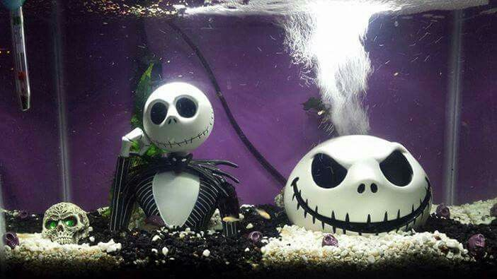 coolest aquarium ever fish tank for kids fish tanks tim burton christmas - Christmas Fish Tank Decorations