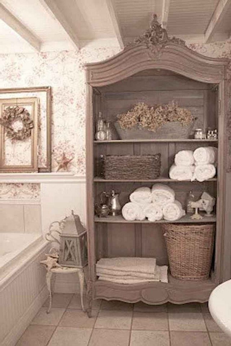 20+ Lovely Shabby Chic Bathroom Decoration Ideas