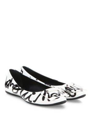 be4275473c94 ROGER VIVIER Gommette  Oui Non  Graffiti Patent Leather Ballet Flats.   rogervivier  shoes  flats