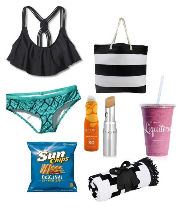 """""""A day at the beach/pool"""" by crab91 on Polyvore featuring Mossimo, Patagonia, Acure and Chantecaille"""