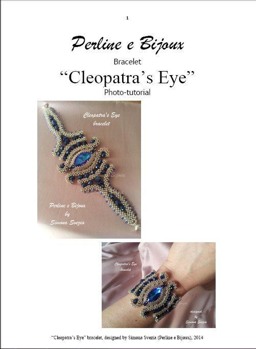 Cleopatra's Eye bracciale -  tutorial fotografico CLEOPATRA'S EYE photo-tutorial