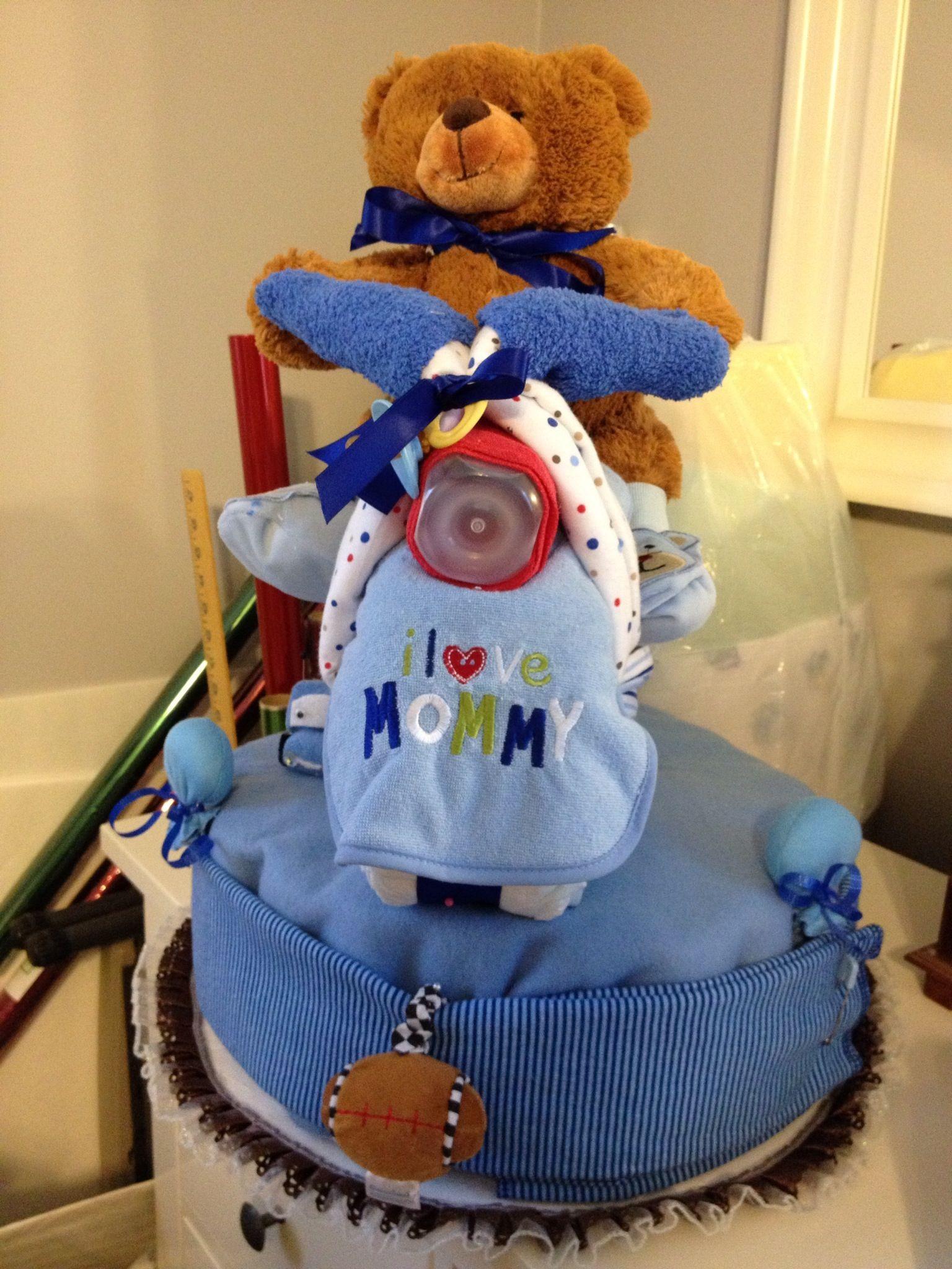 Boy motorcycle diaper cake diaper motorcycle cake