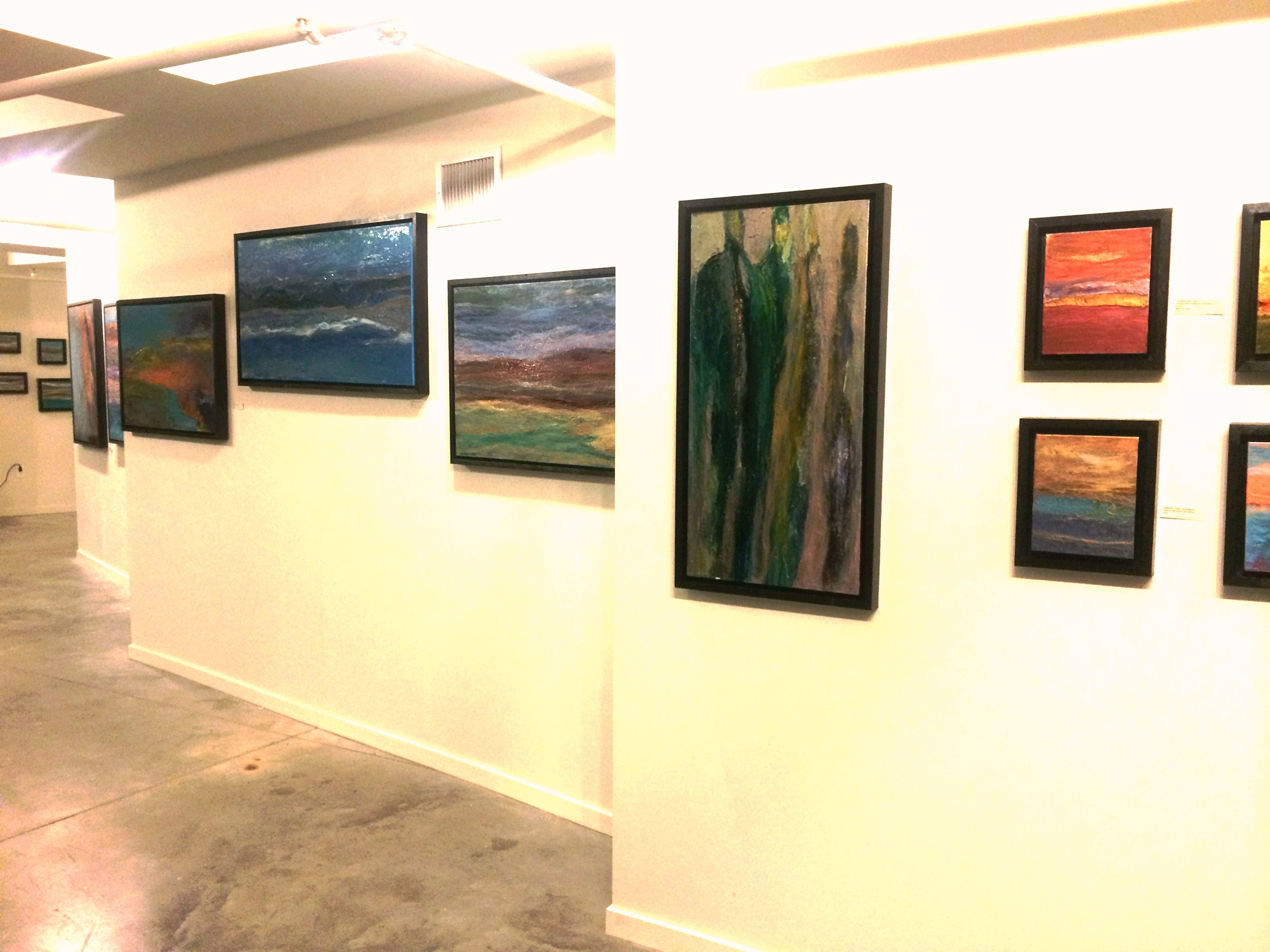 Original Abstract Paintings by Dina Worzel on display at the ...