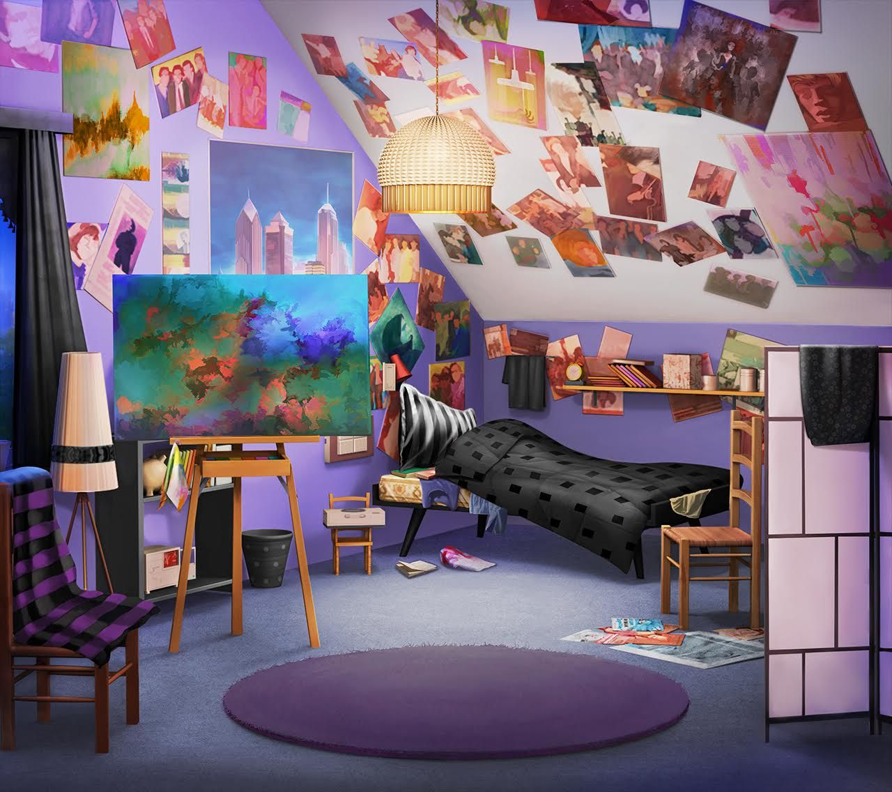 Anime Apartment Living Room Best Home Wallpaper