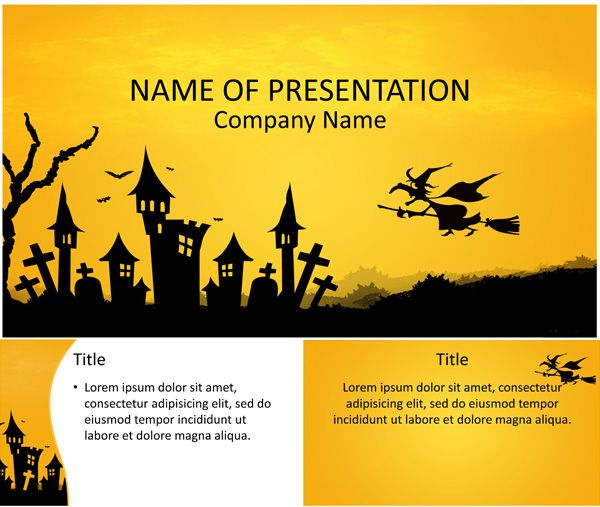 Halloween Powerpoint Template Holiday Special Occasion