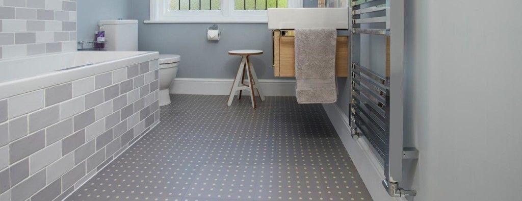 Modern Grey Pattern Vinyl Bathroom Linoleum Flooring ...