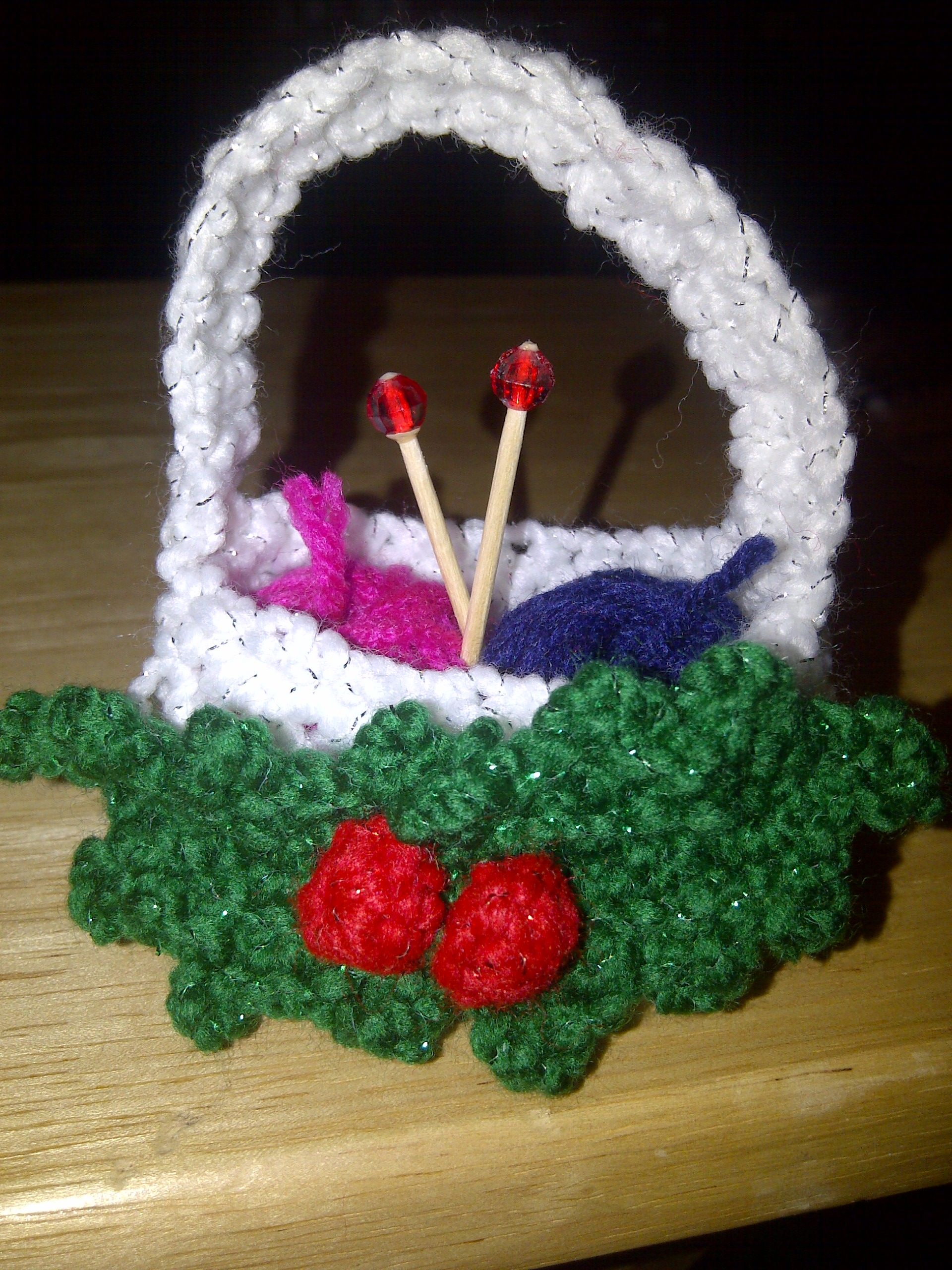Basket of Yarn Christmas Ornament