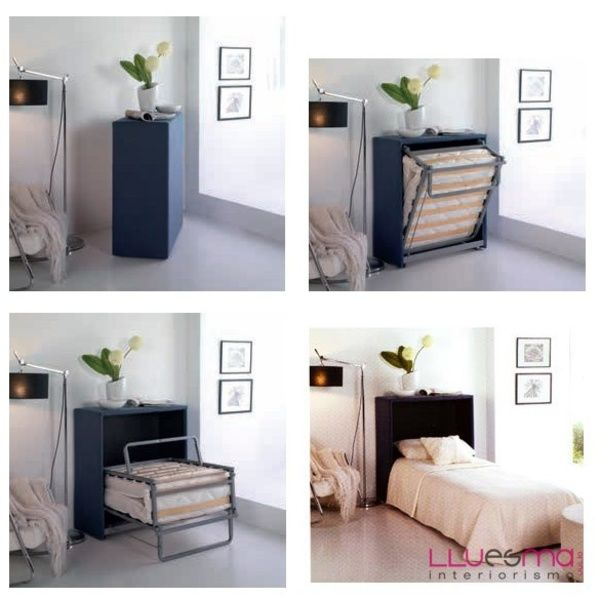 Mueble cama entrega inmediata es interiorismo deco for Sillon cama pequeno